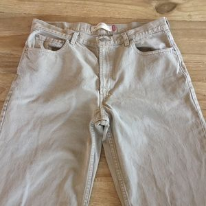 levis 550 Beige jeans relaxed fit Cotton 36x32